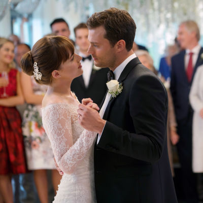 Dakota Johnson och Jamie Dornan i filmen Fifty Shades Freed