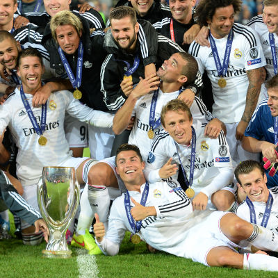 Real Madrid spelade hem UEFA Super Cup i Cardiff.