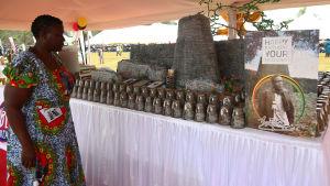 Tårtan som påminner om de uråldriga ruinerna som gett Zimbabwe sitt namn.