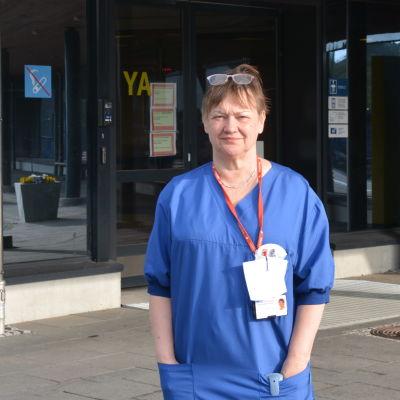 Servicechef Ann-Katrin Brandtberg på Vasa centralsjukhus.