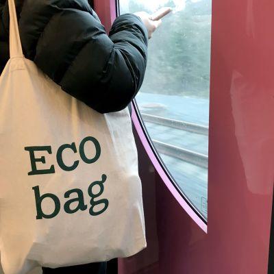 kangaskassi, joss eco bag -teksti