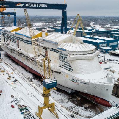 Costa Toscana sjösattes vid Åbovarvet 15.1.2021.