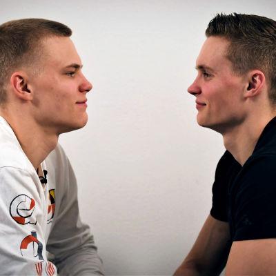 Gymnastbröderna Robert och Oskar Kirmes.