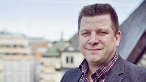 Porträtt på Veli-Pekka Säikkälä, avtalssekreterare, IF Metall