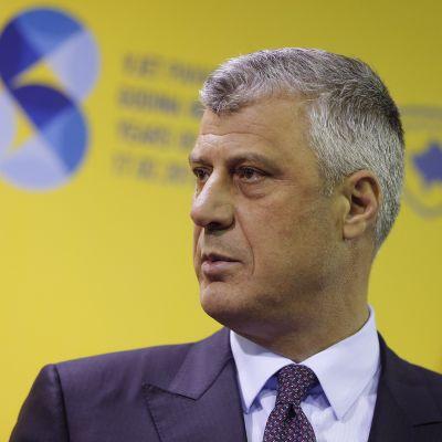 Kosovon ulkoministeri Hashim Thaçi 11.2.2016 Pristinassa.