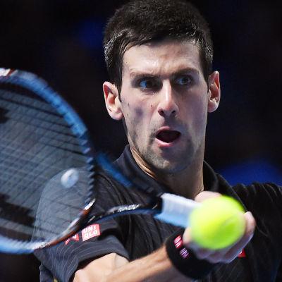 Djoko under ATP-slutspelet i London 2014.