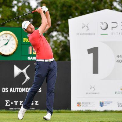 Golfari Kalle Samooja Italian Openissa 4. syyskuuta.