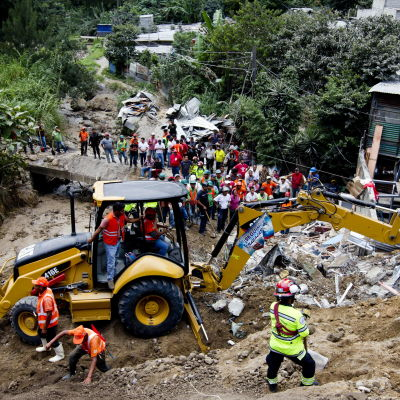 Jordskred i Guatemala