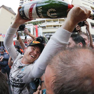 Nico Rosberg har firat tre år i följd i Monaco - blir det ett fjärde firande?