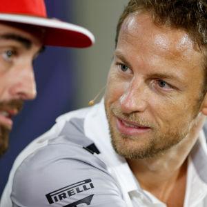 Fernando Alonso och Jenson Button, 2014