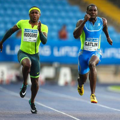 Gatlin vinner 100 meter i Linz, Rodgers tvåa