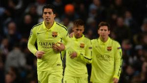 Luis Suarez sköt Manchester City i sank.