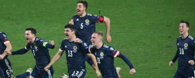 Skottland firar när EM-platsen är säkrad.