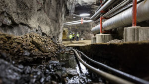 Energibolaget Helens underjordiska värmereserv i Helsingfors.