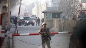 Stora delar av Kabul har spärrats av på grund av rädslan för terrordåd