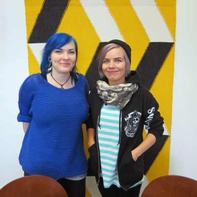 Cecilia Fonselius och Sara Stigzelius på ungdomsverkstaden Sveps