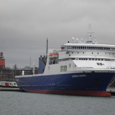 Fartyget Liverpool Seaways i Hangö hamn