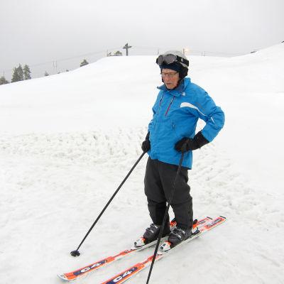 Nisse Eklundh skidar i februari 2015