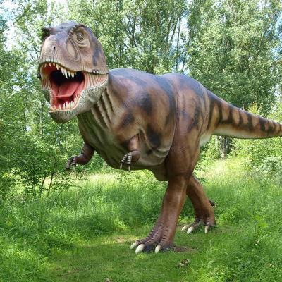 Tyrannosaurusmodell i Dino Park i Rügen, Tyskland