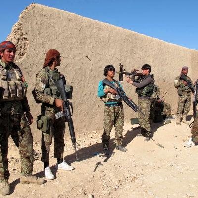Afghanska säkerhetstrupper i Helmand.
