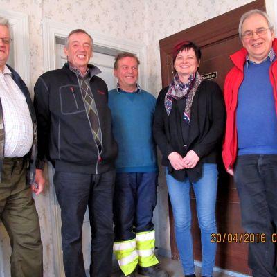 Vilhelm Berglund, Martin Ekman, Stefan Björklund, May-Britt Audas och Håkan Nylund.