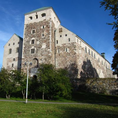 Åbo slott sett från hamnen.