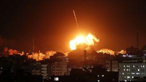 Flygräder över Gaza.