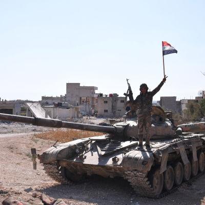 En syrisk soldat i Idlib-provinsen den 24 augusti 2019.