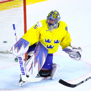 Henrik Lundqvist i Sveriges mål.
