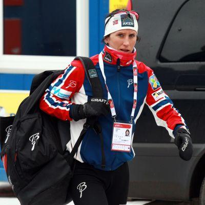 Marit Björgen har börjat uppladdningen för nästa säsong.