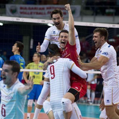Frankrike firar EM-guld i volleyboll.