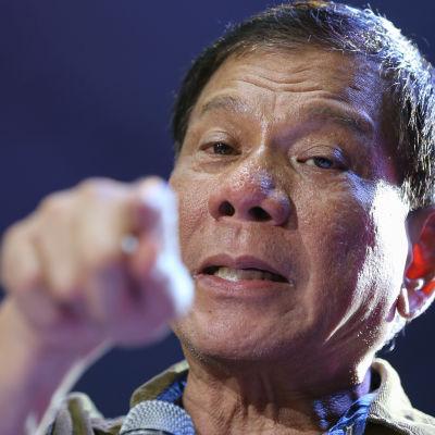 Filippinska presidentvalskandidaten Rodrigo Dutertes.