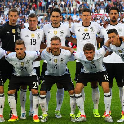 Tysklands startelva i kvartsfinalen mot Italien. Mot Frankrike ser den helt annorlunda ut.