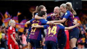 FC Barcelona firar segern över Bayern München i semifinalen i Champions League.