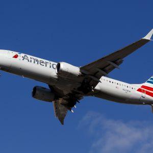 En av American Airlines 737 MAX 8-passagerarplan.