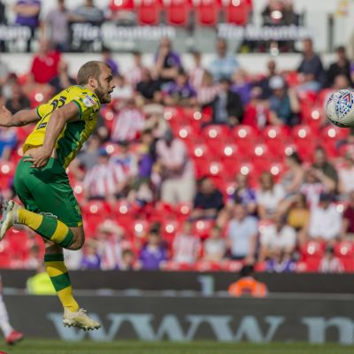 Teemu Pukki gjorde mål mot Stoke.