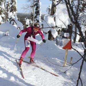 Salla Koskela vann FM-guld i skidorientering år 2018 i Posio.