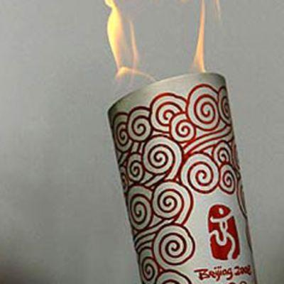 Pekingin olympiakisojen soihtu.
