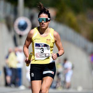 Heidi Weng löpte Holmenkollenstafetten i maj.
