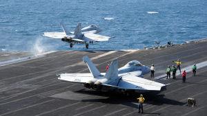 Amerikansk flygoperation i Persiska viken.