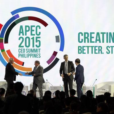 Apec-toppmöte i Manila november 2015.