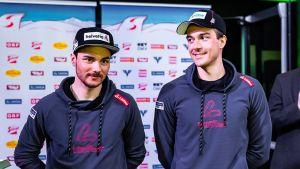 Dominik Baldauf och Max Hauke står bredvid varandra