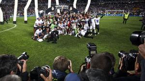 Real Madrid, vinnare i Champions League 2013-2014, fotograferas efter finalen.