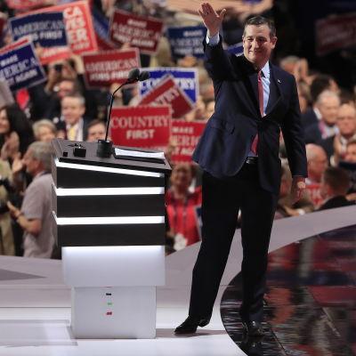 Republikaska politikern Ted Cruz vid partikonventet i Cleveland 2016.