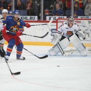 Juha Metsola i målet i en match mot Jokerit