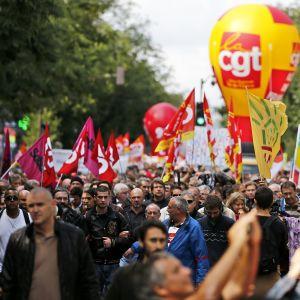 Barplockare protesterar mot arbetsgivare
