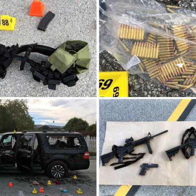 Polisens fotomontage av vapen som användes i San Bernardino, USA.