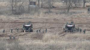 Sydkoreas och USA:s gemensamma militärövningar i Sydkorea den 7 mars 2016.