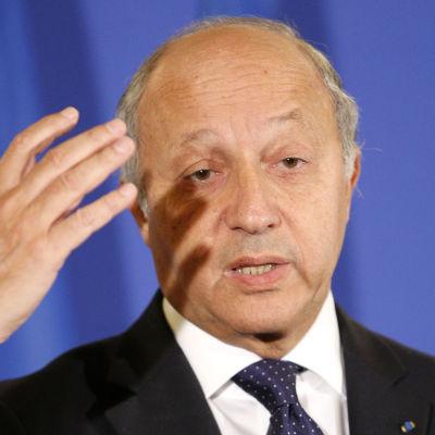 frankrikes utrikesminister laurent fabius