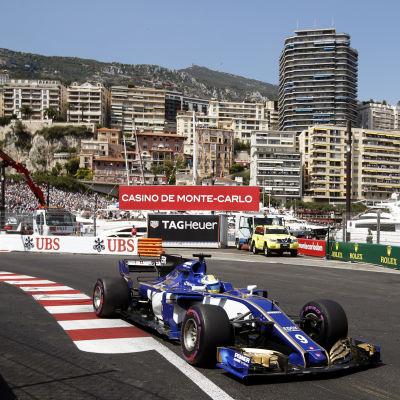 En Sauberbil i Monaco.